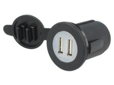 USB  Einbausteckdose    USB-A 5VDC   2,1A Eingang 12..24VDC