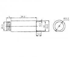 Sicherungshalter    5x20mm        printbar    stehend