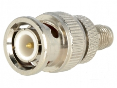 BNC-Stecker->SMA Kupplung Adapter