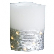 Kerze Led Flackereffekt/ Lichterkette/Timer 12,5cm