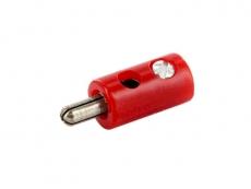 Spielwarenstecker rot 2,6mm schraubbar