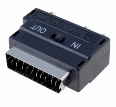 Scart/CHinch    Adapter                    S-VHS    Buchse    IN-OUT