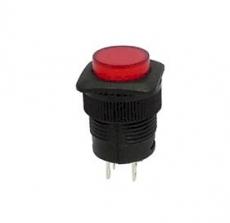 Schalter    EIN/AUS    rot    mit    LED    1A/250VAC    DM16mm