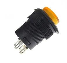 Schalter    EIN/AUS    orange        mit    LED    1A/250VAC    DM16