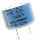 0,047F    5,5V    Goldcap    DM            11,5mm    Höhe    8,5mm    RM    5mm