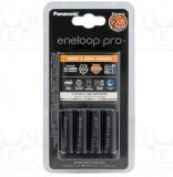 Ladegerät Eneloop pro Panasonic AAA, AA + Akkus