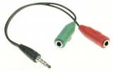 Klinkenstecker    3,5mm    auf    2xKupplung    für    PC-Headset