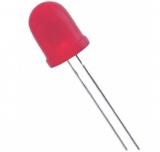 LED    10mm    rot    550mcd.                    1,85-2,5V    20mA    diffus