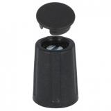 Drehknopf    10,5x14mm    4mm        Achse    schwarz