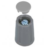 Drehknopf    10,5x14mm    4mm        Achse    grau