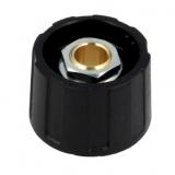 Drehknopf    23x15,5mm        6mm    schwarz    mit    Deckel