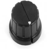 Drehknopf    DM=16mm    h=14mm    Achse    6mm    Schwarz    Kunstst