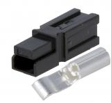 Leistungssteckverbinder   1pol.  anreihbar  30A   schwarz TE Connectivity 1445957-2