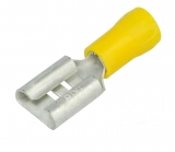 Flachstecker  Fast-on   9.5mm  gelb  isoliert