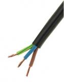 Schlauchleiter  3x0,75mm    flexibel  DM 6mm    schwarz