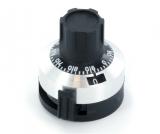 ZEHNGANGKNOPF    6,35mm    mit    Getriebescala 15 Umdrehungen