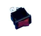Wippschalter    1pol.EIN    AUS250V/6A    21x15mm    230V-rot