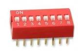 Codierschalter    MiniDip    8    Schalter