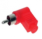 Cinch    Stecker    winkel    rot    Nylon