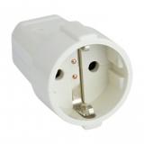 Schukokupplung    16A    weiß        Kunststoff