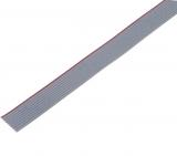 FLACHBANDKABEL    AWG-28                RM1,27    10p    grau/makierung