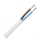 Schlauchleiter    2x0,75mm        flexibel    weiß    flach