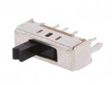 Schiebeschalter 1 polig  ON-ON-ON 12VDC 100mA
