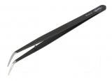 Pinzette  gebogen spitz 155mm schwarz KNIPEX
