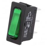 Wippschalter 1pol.EIN AUS 250V/20A 31,5x14mm grün Marquardt