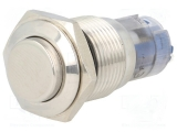 Schalter Edelstahl 1 poliger Umschaltkontakt  IP67 16mm