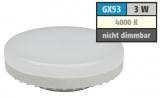 GX53 230V 3W Led 260lm 120° neutralweiß