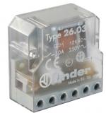 Stromstossrelais 12VAC 1NO+1NC 10A/250V Finder