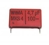 4,7uF/100VDC R 27,5 MKS4 Kondensator