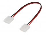 Verbinder für LED-Bänder 8mm Band/Band mit Kabel
