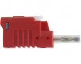Büschelstecker Sicherheit 4mm 36A rot