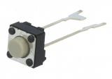 Printtaster 6,0x6,0mm 2pin 0.05A / 24VDC