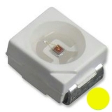 LED SMD gelb PLCC2 2x1.4mm 20mA 2.4V 230-530mcd