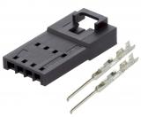Stecker RM 2,54mm 4pol. löt/crimp Einsätze Molex