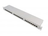 Patchpanel 24port CAT.6a 500MHz,10GB geschirmt