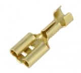 FLACHSTECKHÜLSE 6.3mm blank 1,0-2,5mm² Messing