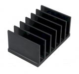 Kühlkörper 50x78x35mm 2.3K/W schwarz Aluminium