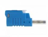 Büschelstecker Sicherheitsstecker 4mm 36A blau