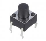 Printtaster 6,0x6,0mm h=7mm stehend  NINIGI TACT-67N-F