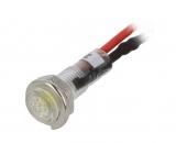 Signallampe 24VDC gelb 5,2mm mit Kabel IP40