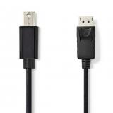 Mini DisplayPort-Stecker auf Displayport 2 Meter