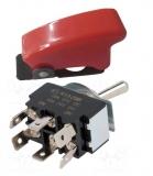 Kippschalter rote LED mit Sicherungskappe