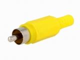 CINCH STECKER gelb Nylon mit Knickschutz