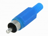 CINCH STECKER blau Nylon mit Knickschutz