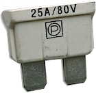 25A    32V                                                                        KFZ-Stecksicherung    weiß