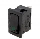 Wippschalter    1Pol.EIN    AUS250V/3A    21x15mm    LED-grün